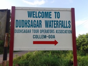 01 Welcome to Dudhsagar Waterfalls