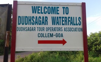 Welcome to Dudhsagar Waterfalls Goa