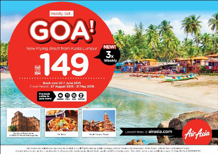 Kuala Lumpur - Goa (and back) for under USD 100!!